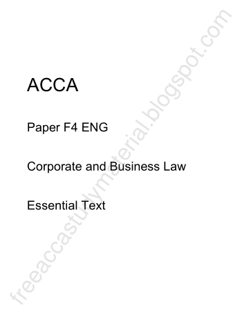 2015 ACCA F4 ENG Essential Text KAPLAN Book, Download Free Templates