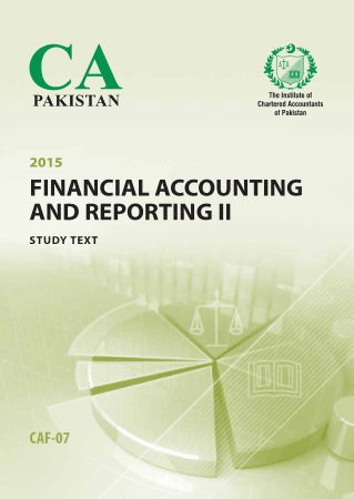 2015 CAF 7 Financial Accounting and Reporting II Studytext ICAP Book, Download Free Templates