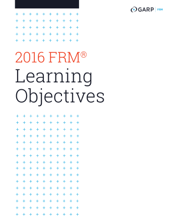 2016 Financial Risk Manager FRM Learning Objectives GARP Book, Download Free Templates