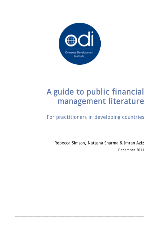 A guide to public financial management literature Book, Download Free Templates