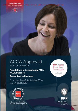 ACCA F1 Accountant in Business BPP Revision Kit 2017 Book, Download Free Templates