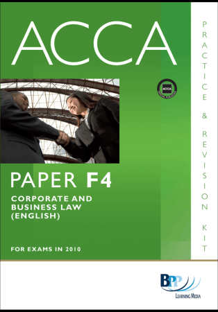 ACCA F4 BPP Revision Kit 2010 Book, Download Free Templates
