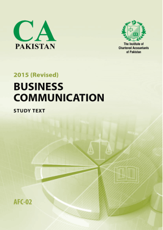 AFC2 Business Communication 2015 Revised study text ICAP Book, Download Free Templates