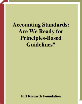 Accounting Standards Are We Ready for Principles Based Guidelines Book, Download Free Templates