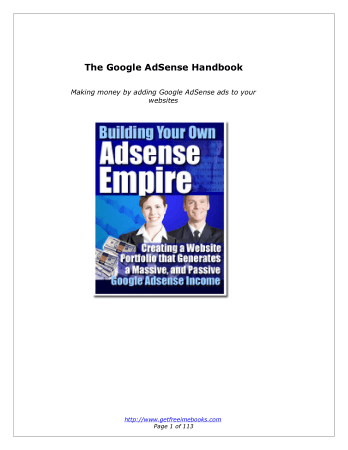 Adsense Empire Book, Free Vector