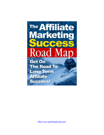Affliate Marketing Road map Book, Free Vector