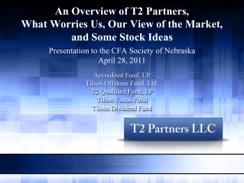 An Overview of T2 Partners What Worries Us Our View of the Market and CFA Book, Download Free Templates