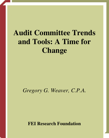 Audit Committee Trends and Tools A Time for Change Book, Download Free Templates