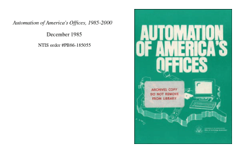 Automation of Americas Offices 1985 to 2000 Princeton University Book, Download Free Templates