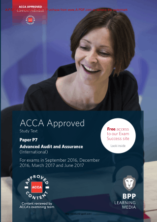 BPP ACCA P7 Advance Audit and Assurance 2017 Book, Download Free Templates