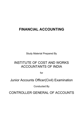 Basics of Financial Accounting ICWAI Book, Download Free Templates