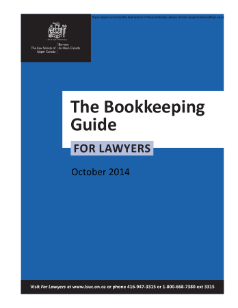 Bookkeeping guide for lawyers The Law Society Book, Download Free Templates