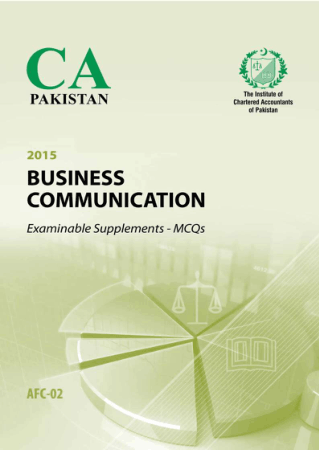 Business Communication 2015 MCQs ICAP Book, Download Free Templates