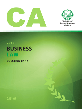Business Law Question bank ICAP Book, Download Free Templates