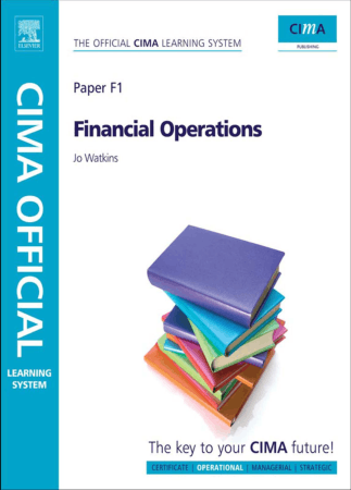 CIMA F1 Financial Operations Book, Download Free Templates