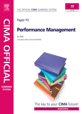 CIMA P2 Performance Management Book, Download Free Templates