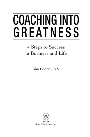 Coaching Into Greatness 4 Steps To Success In Business And Life Book, Download Free Templates