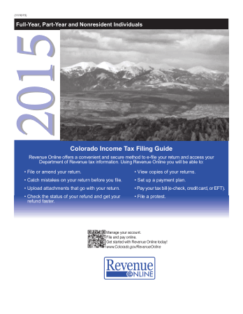 Colorado Income Tax Filing Guide Book, Download Free Templates