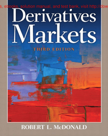 Derivatives Markets 3E Book, Free Vector