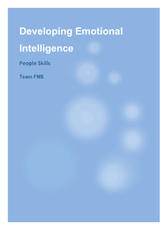 Developing Emotional Intelligence Book, Download Free Templates