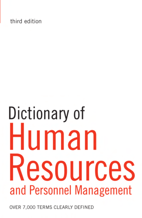 Dictionary of Human Resources Management Book, Download Free Templates
