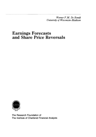 Earnings Forecasts and Share Price Reversals Book, Download Free Templates