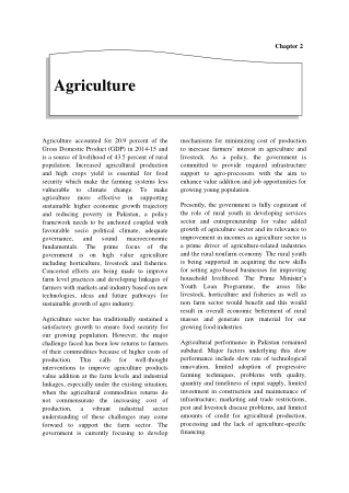 Economic Suvey of Pakistan 2014-2015 Chapter 02 Agricultre Book, Download Free Templates