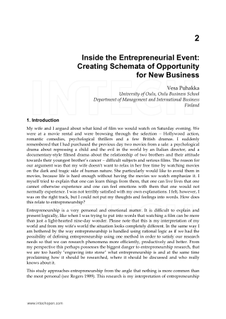 Entrepreneurship Creativity and Innovative Business Models Chapter 2 Book, Download Free Templates
