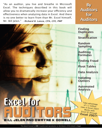 Excel for Auditors by Bill Jelen and Dwayne K Dowell Book, Download Free Templates
