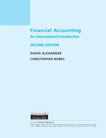 Financial Accounting An International Introduction 2nd Edition Book, Download Free Templates