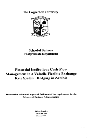 Financial Institutions Cash Flow Management In A Volatile Flexible Exchange Rate System Book, Download Free Templates