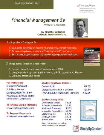 Financial Management 5e Principles and Practices Book, Download Free Templates