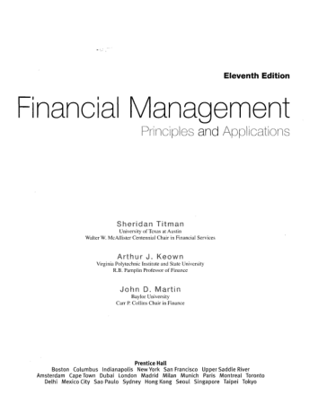 Financial Management Principles and Applications 11 Ed Book, Download Free Templates