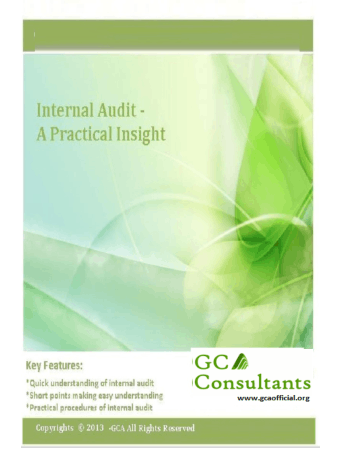 GCA Interal Audit book Book, Download Free Templates