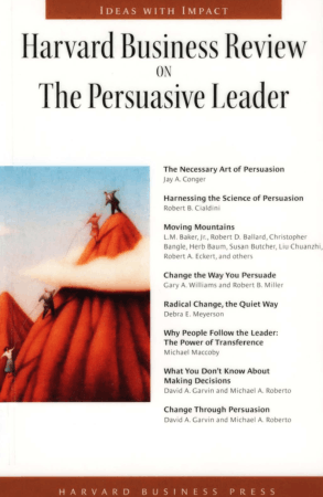 Harvard Business Review on The Persuasive Leader Book, Download Free Templates