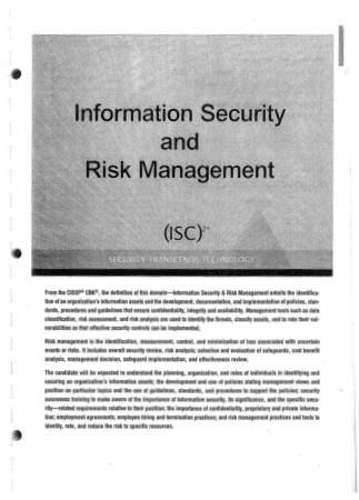 Information Security and Risk Management Book, Download Free Templates