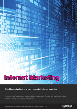 Internet Marketing textbook Book, Free Vector