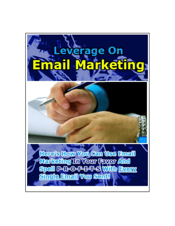 Leverage on Email Marketing Book, Free Vector