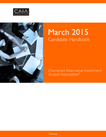 March 2015 CAIA Candidate Handbook Book, Download Free Templates