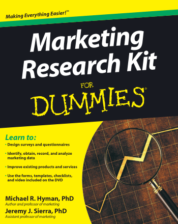 Marketing Research Kit for Dummies Book, Download Free Templates