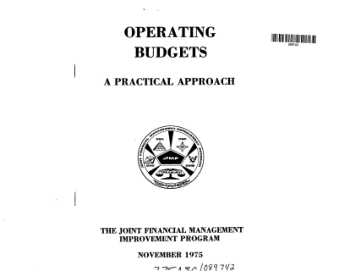Operating Budgets A Practical Approach Book, Download Free Templates