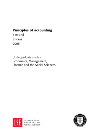 Principles Of Accounting Book, Download Free Templates