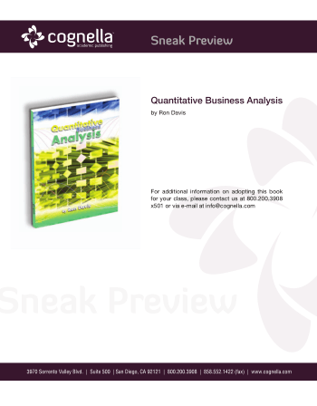Quantitative Business Analysis Book, Download Free Templates