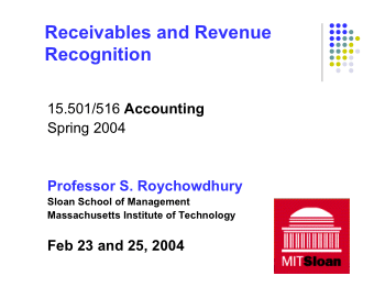 Receivables and Revenue Recognition Book, Download Free Templates