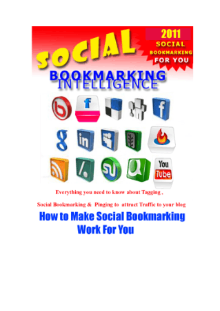 Social Bookmarking Intelligence Ready Book, Free Vector