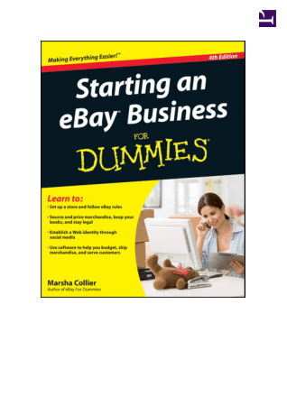 Starting An Ebay Business For Dummies 4th Edition Book, Download Free Templates