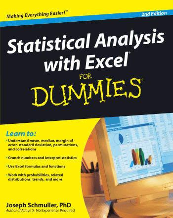 Statistical Analysis with Excel For Dummies 2nd Edition Book Book, Download Free Templates