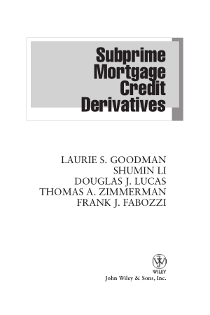 Subprime Mortgage Credit Derivatives Book, Free Vector
