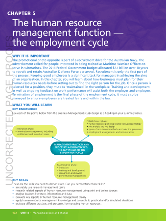 The Human Resource Management Function The Employment Cycle Book, Download Free Templates