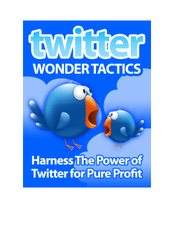 Twitter Wonder Tactics Book, Download Free Templates